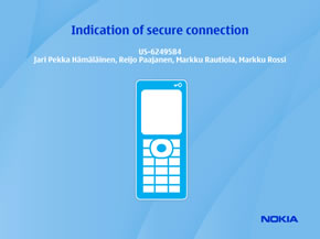 Indication of secure connection