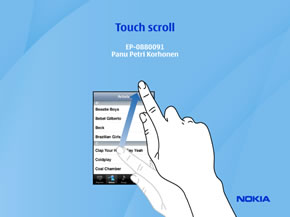 Touch scroll